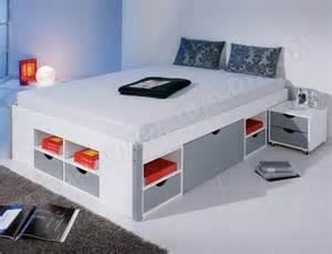 lit avec rangement interlink mikar 180x200 pas cher