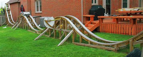 backyard wooden roller coaster biggest backyard roller coaster outdoor furniture design