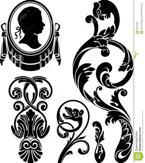 victorian design elements vector victorian design elements stock vector illustration of