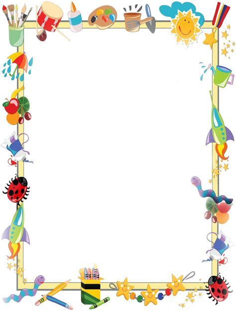marcos para decorar hojas infantiles marcos infantiles escolares para hojas imagui bordes