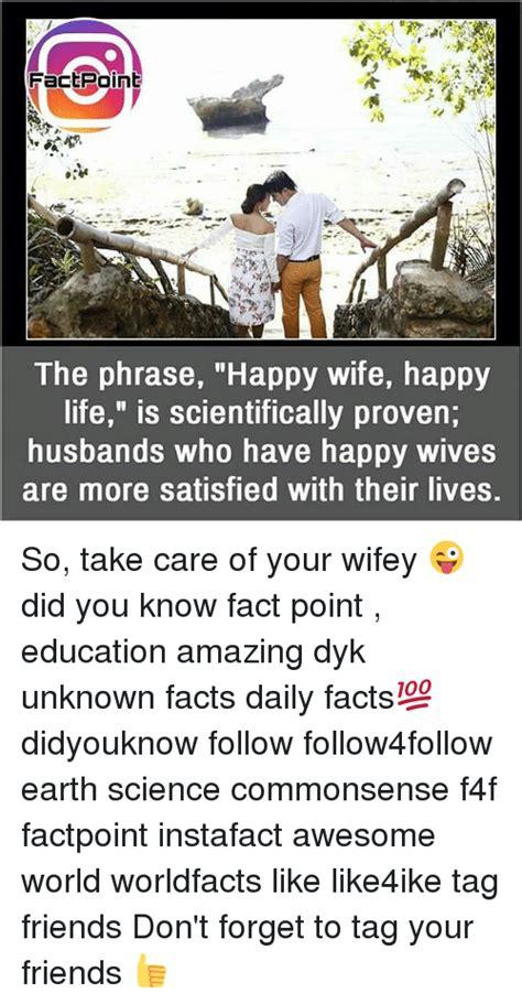 factpoint   phrase happy wife happy life