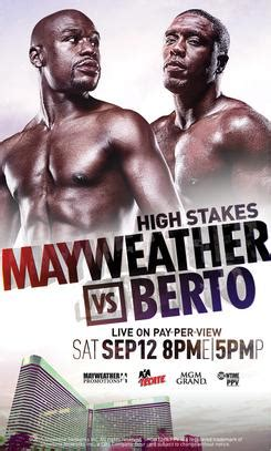 boxing fight card template floyd mayweather jr vs andre berto