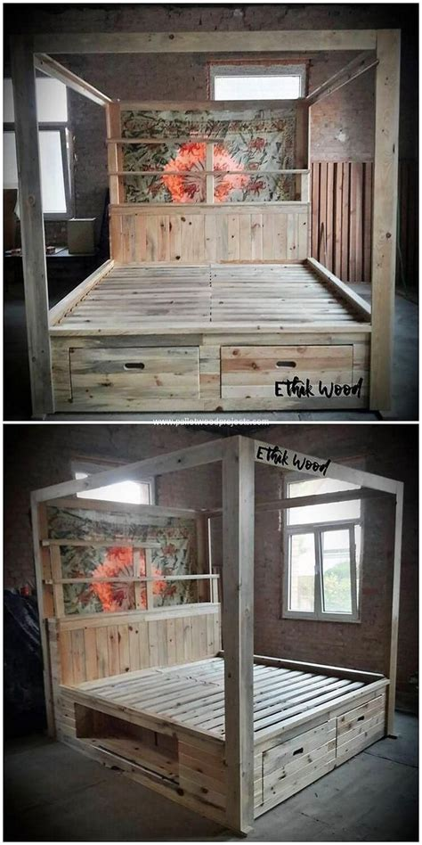 unique wood furniture bed frames pallet patio furniture