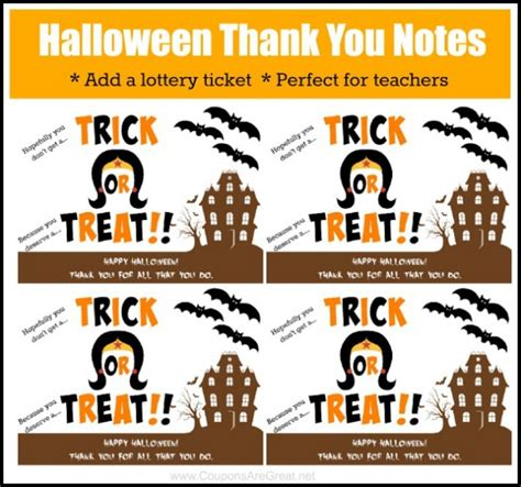 printable thank you notes for employees printable halloween thank you note perfect for teacher