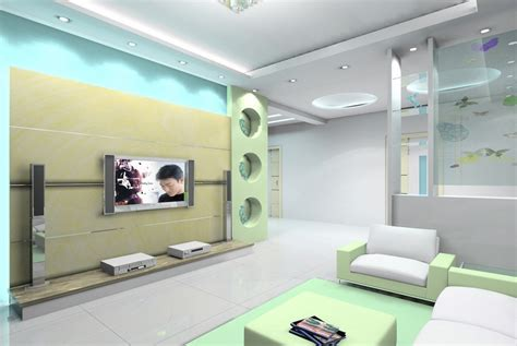 interior design ceilings and partition wall 3d house