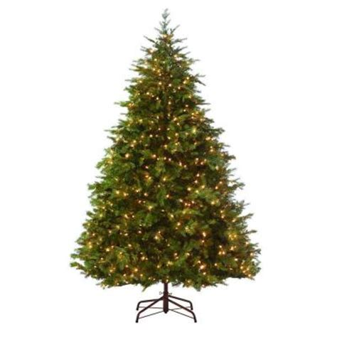 martha stewart living 9 ft indoor pre lit nordic spruce