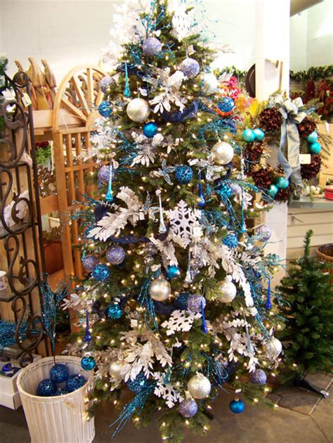 blue and silver decorated christmas trees decorating ideas pretty decorated trees