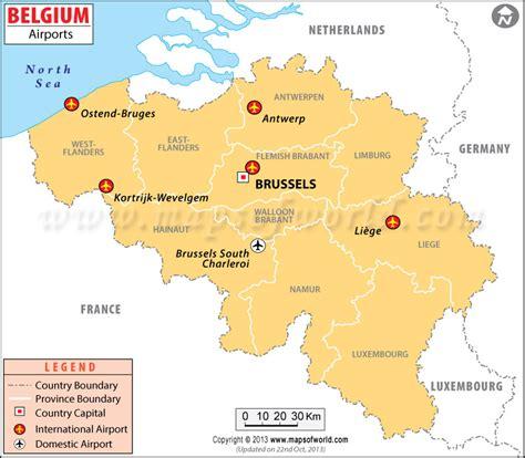intern europe airports in belgium belgium airports map