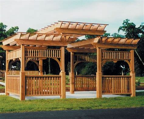 Very Elaborate Pergola With All Kinds Of Architectural Large Pergola Designs
