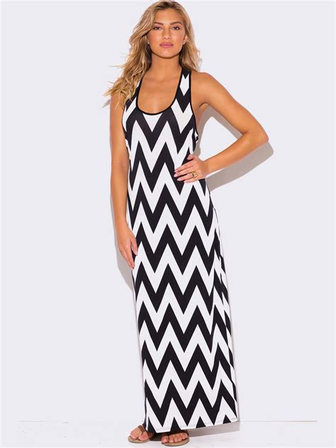 Estrella Dress4 black and white maxi dress plus size plus size chevron