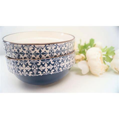 decorative bowls white stylish mosaic blue and white decorative bowls set of 2