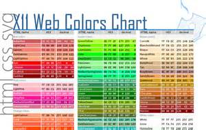web color chart nafsadh s arts portfolio showcasing arts design and
