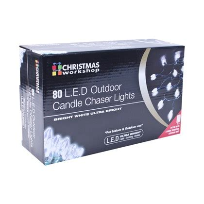 outdoor chaser lights 80 led clear outdoor candle chaser lights