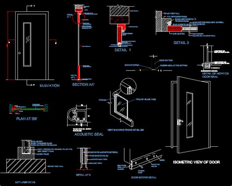 Door Section Cad by Sound Proof Door Dwg Section For Autocad Designs Cad