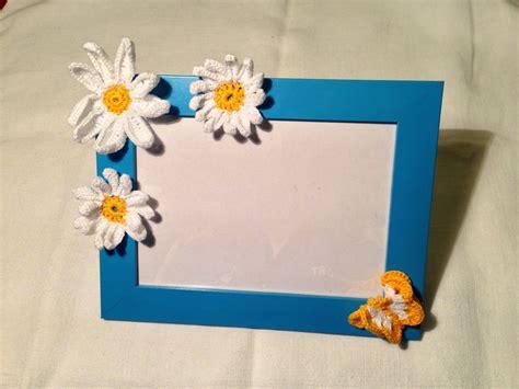 cornici fatte a mano cornice portafoto azzurra bambino con decorazioni