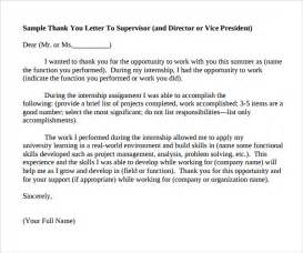internship thank you letter 9 free documents
