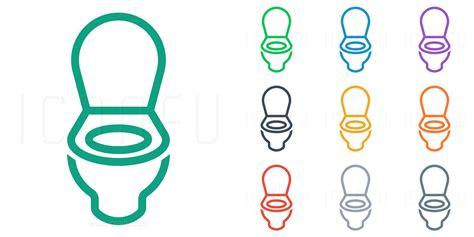 Design A Bathroom toilet icon line style iconfu