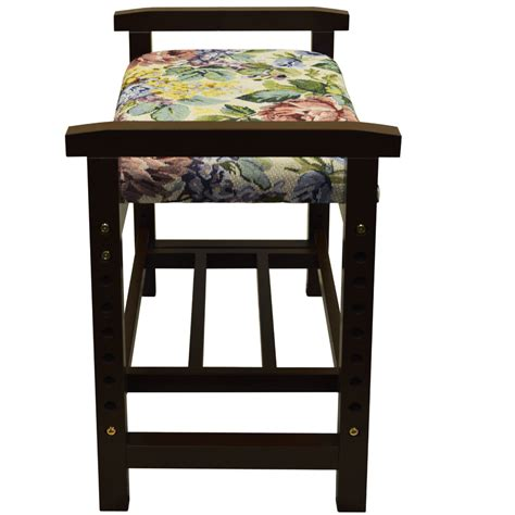 dark wood storage bench burlington adjustable height shoe storage bench with