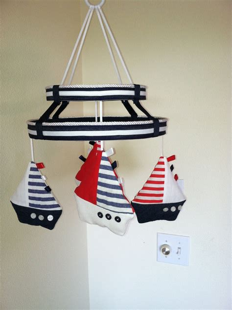 Sailboat Mobile For Crib by Baby Mobile Custom Sailboat Mobile Nautical Crib Mobile