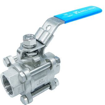 valve screwed end valve 3 pc screwed end
