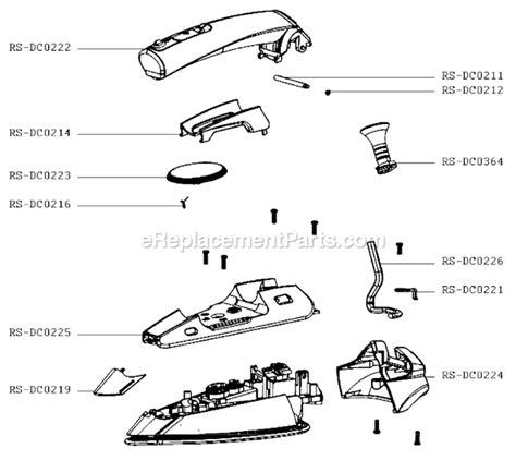 rowenta iron parts diagram rowenta da1560q1 3h parts list and diagram