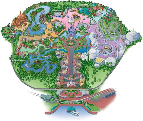 map of usa showing disney world magickingdom