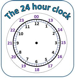 printable 24 hour clock chart 24 hour clock conversion worksheets