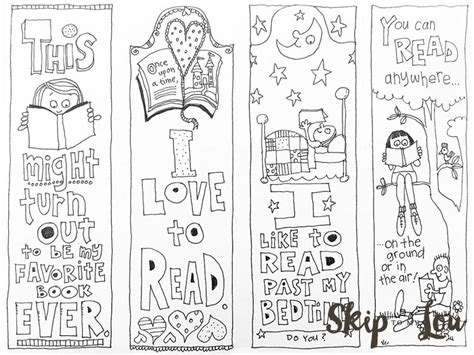 printable bookmarks to make free coloring bookmarks skip to my lou
