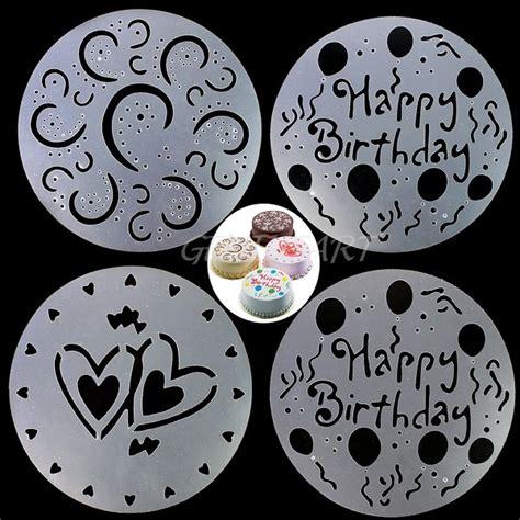 plantillas decoracion tartas 4 plantillas para decorar queques tortas y postres