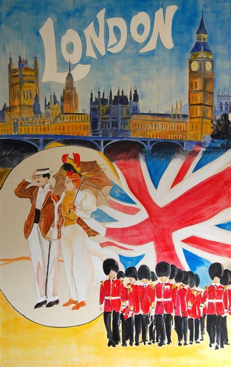 poster design london vintage travel poster london england sky dancing