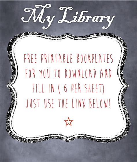 free printable bookplates templates 2013 january