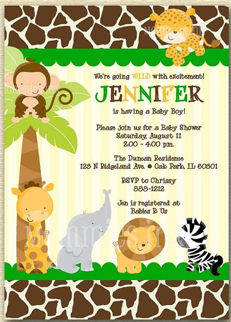 Best 25 Baby Shower Templates Ideas On Pinterest Baby Shower Labels Babyshower Themes For Jungle Invitation Template