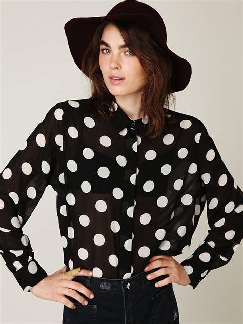 Blouse Polka polka dot blouse