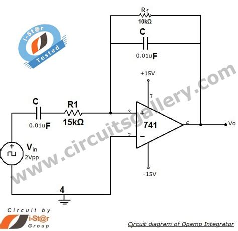 integrator circuit using rc low pass filter integrator circuit using op 741 circuits gallery
