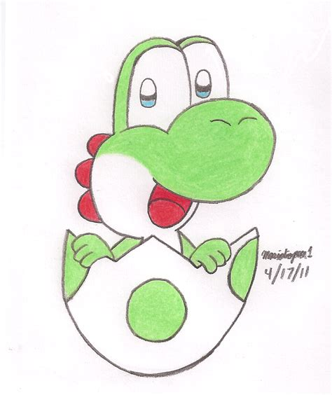 Drawing Yoshi by Yoshi Egg Hatched By Mariosimpson1 On Deviantart