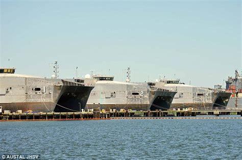catamaran military ship the navy s 2 1bn hi tech catamarans get damaged by waves