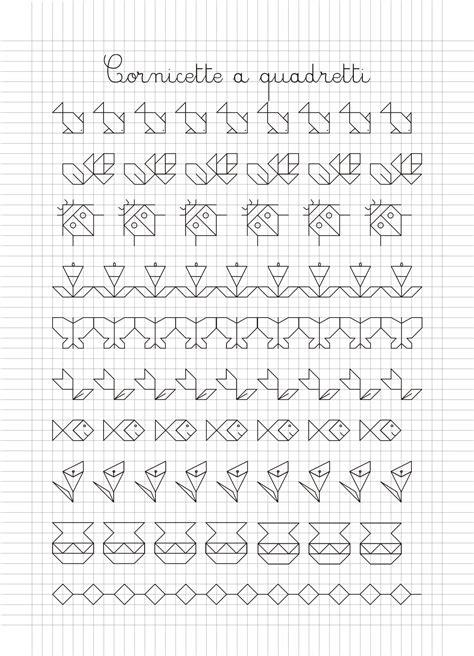 cornici da disegnare sul quaderno cornicette e disegni a quadretti