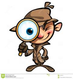 Detective with magnifying glass clip art detective with printable