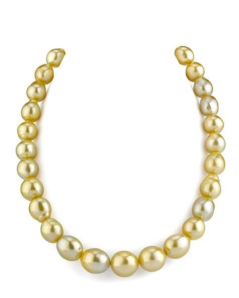 11 14mm drop shape golden south sea pearl necklace
