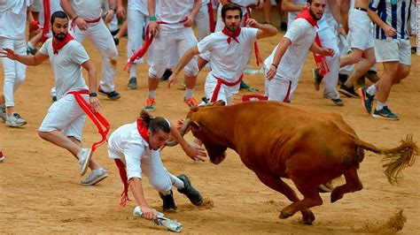 Running With The Bulls running of the bulls in plona at least nine injured in