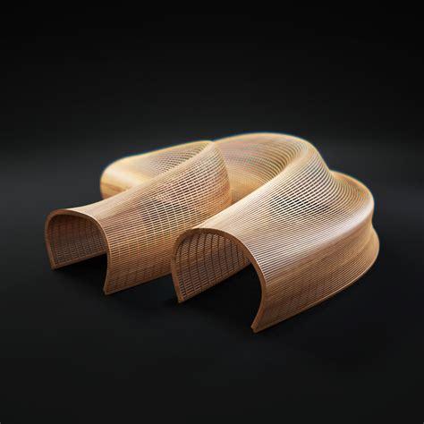 matthias pliessnig 3d model matthias pliessnig wooden sculptural seats