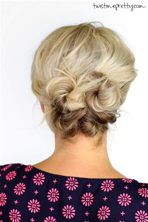 knotted updo for hair twist me pretty