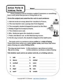 action verb and linking verb worksheets