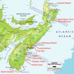 east coast map canada east coast surfing in east coast canada wannasurf