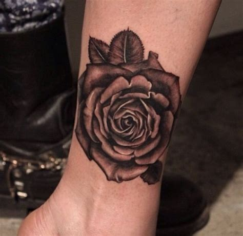 rose wrist tattoo on wrist sleeve
