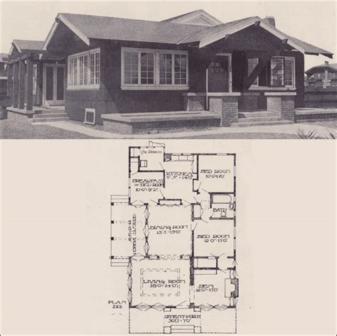 small california bungalow house plans cottage house