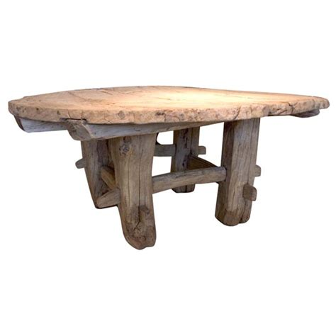 round primitive coffee table at 1stdibs