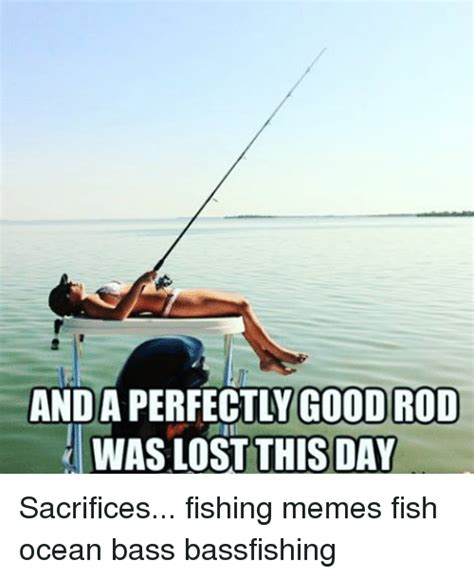 Fishing Memes - anda perfectly good rod waslost this day sacrifices