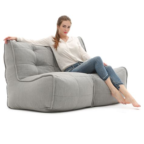 modular bean bag sofa 2 seater grey sofa designer bean bag couch keystone