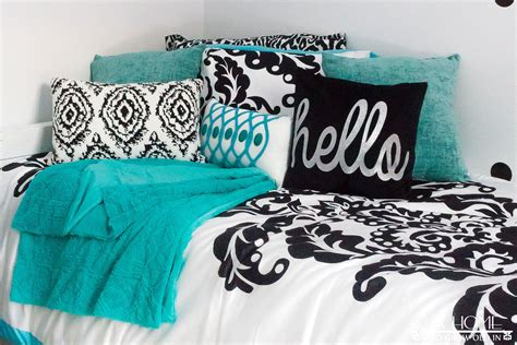 black white and teal bedroom teal black and white girl s bedroom reveal with bloggers